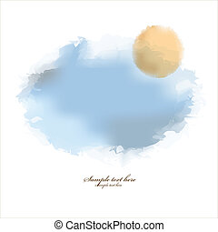 Abstract watercolor background with place for your text
