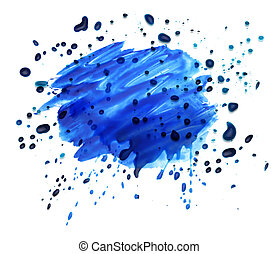 abstract watercolor blot splash