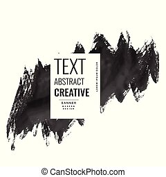 abstract watercolor brush stroke banner design poster design