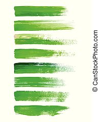 Abstract watercolor brush strokes isolated on white, creative illustration, fashion background. Vector illustration
