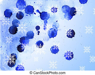 Abstract watercolor Christmas background, for backgrounds or tex