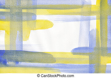 Abstract watercolor frame background