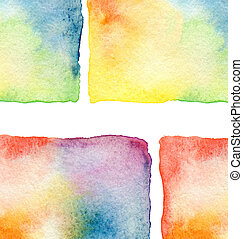 abstract, watercolor, geverfde, achtergrond