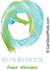 watercolor girl profile