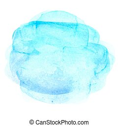 Abstract watercolor hand paint texture, isolated on white background, traced.