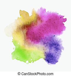 Abstract watercolor hand paint texture, isolated on white background. Watercolor drop