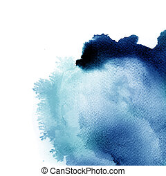 Abstract watercolor hand painted background - Abstract ...