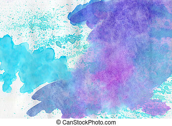 Abstract watercolor multicolored background for scrapbooking