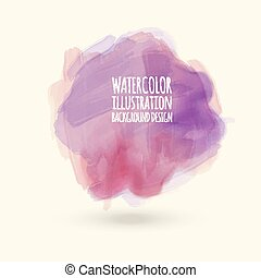 Abstract watercolor on white background.