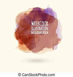 Abstract watercolor on white background. vector illustration