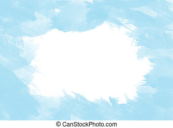 abstract watercolor on white isolated background