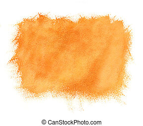 Abstract watercolor orange background