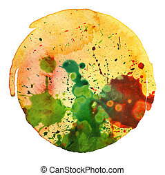 abstract watercolor painting blot background