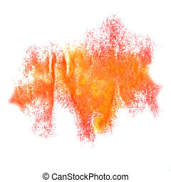 Abstract watercolor pink, orange background for your design insult