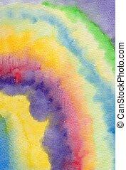 Abstract watercolor rainbow