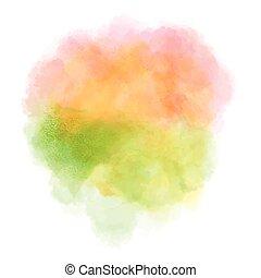 Abstract watercolor splash.