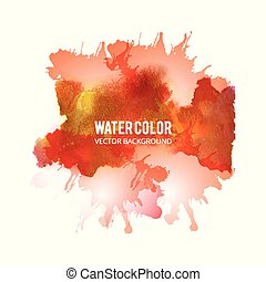 Abstract watercolor splash. Multi-color Watercolor drop on white background.