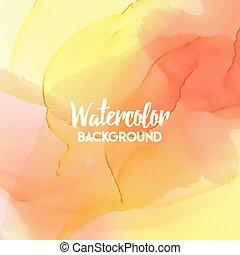 Abstract watercolor splash. Multicolor Watercolor drop.