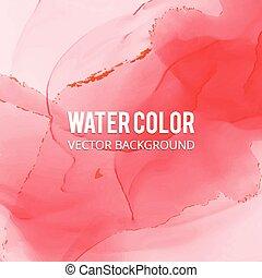 Abstract watercolor splash. Red Watercolor drop.
