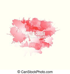 Abstract watercolor splash. Red Watercolor drop on white background.