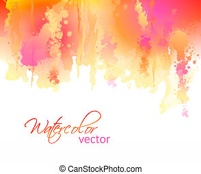 Abstract watercolor streaks background - Vector watercolor...