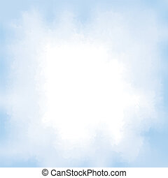 Abstract watercolour background. Blue sky