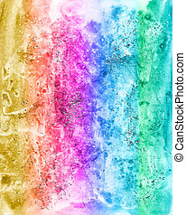 Abstract watercolour multicolor background for scrapbooking and