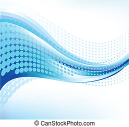 Abstract wave background - 1