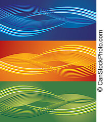 Abstract wave background - Abstract vector modern background...