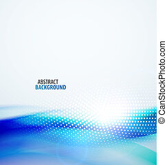 Abstract wave background - Vector smooth blue wave abstract...