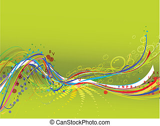 Abstract wave background composition