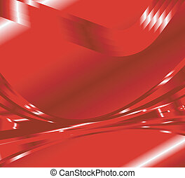 Abstract wave background red color