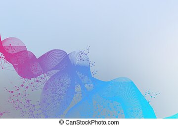 Abstract wave element for design. Big Data Visualization Background. Modern futuristic virtual abstract background. Vector illustration.