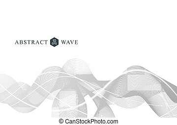Abstract wave element for design.Big Data Visualization Background. Modern futuristic virtual abstract background. Vector illustration.