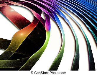 Abstract Wave. Fantastic colorful fractal Design