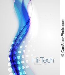 Abstract wave line background - Smooth abstract wave...
