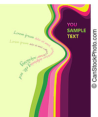 Abstract wave multicolored design