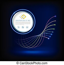 Abstract wave of fiber optic technology connections concept ...