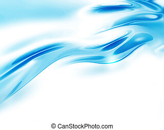 abstract wave of water on a white background
