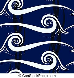 Abstract wave seamless pattern