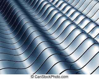 Abstract wave steel background