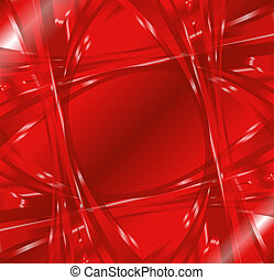 Abstract wave swirl red background