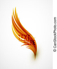 Abstract wave text line - Abstract orange vector eps10 lines...
