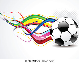 abstract wave with football