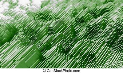 Abstract Waveform. 4K UHD animation. Seamless loop