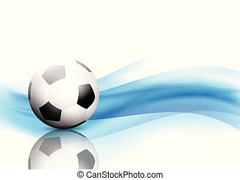 Abstract waves background with football / soccer ball