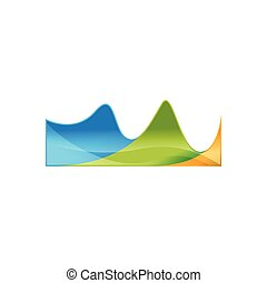 Abstract waves colorful logo