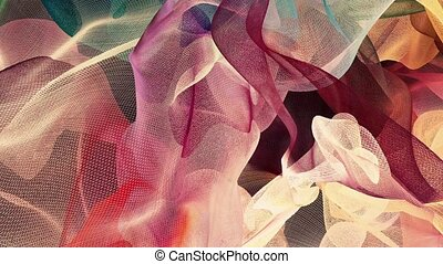 Abstract waves in various colors