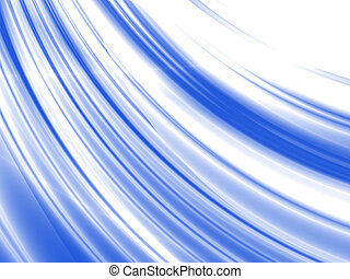abstract waves, overflowing the tints of blue color on a white background