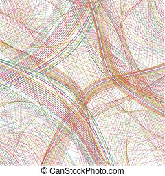 Abstract waves pattern on white background. Vector